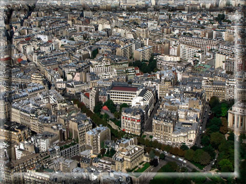 France - view from Eiffel tower June 2012