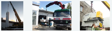 Hiab and cranes lifting machinery