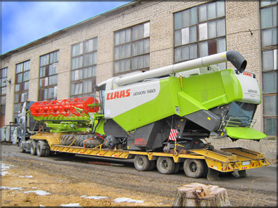 Construction and agriculture machinery transport in Leeds